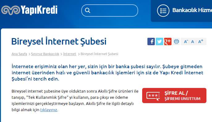 yapı kredi internet bankacılığı