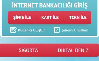 denizbank internet bankacılığı