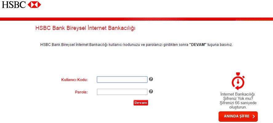 hsbc internet bankacılığı