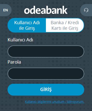 odeabank internet bankacılığı